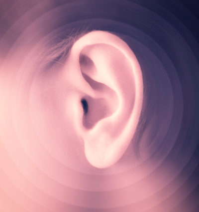 Closeup of a man's ear