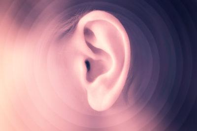 Closeup of a man's ear
